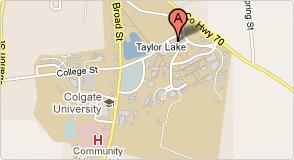 Colgate university campus map
